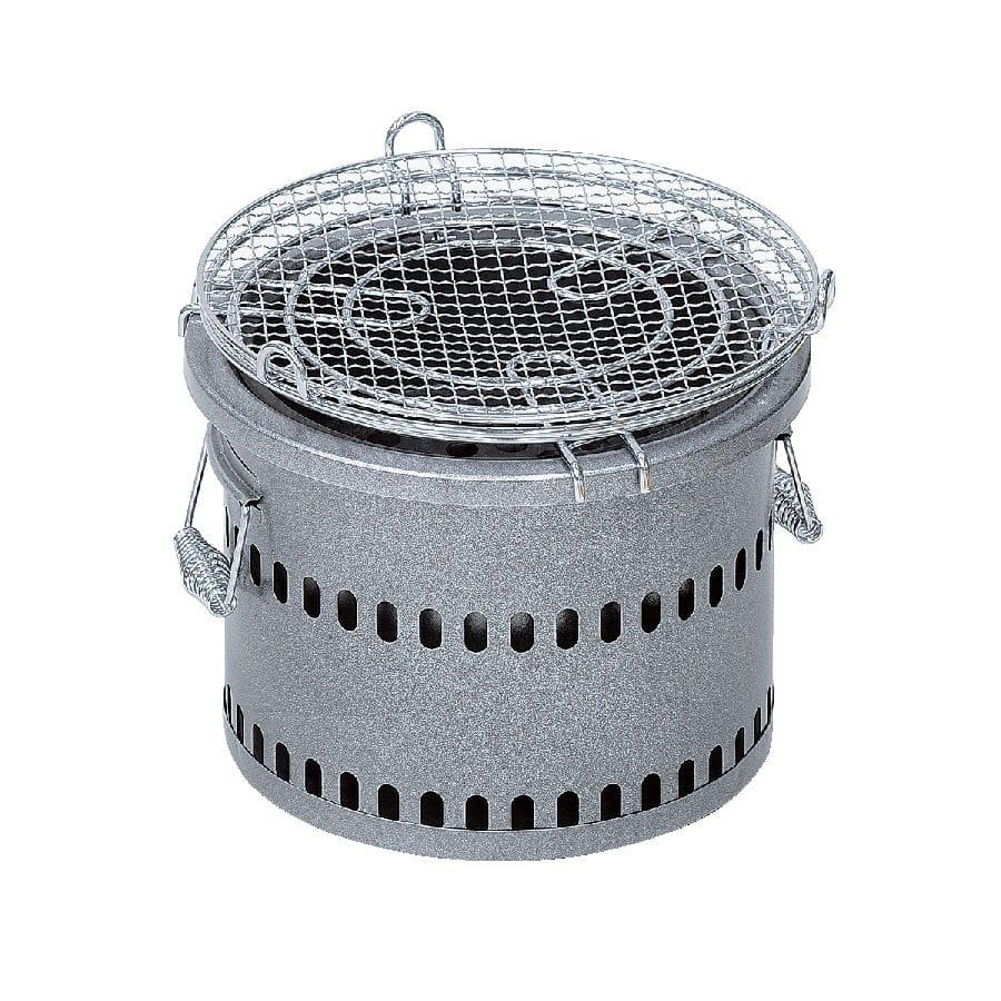 テーブル七輪丸型 シルバー