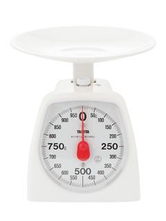 タニタ アナログクッキングスケール 1kg ホワイト 1439