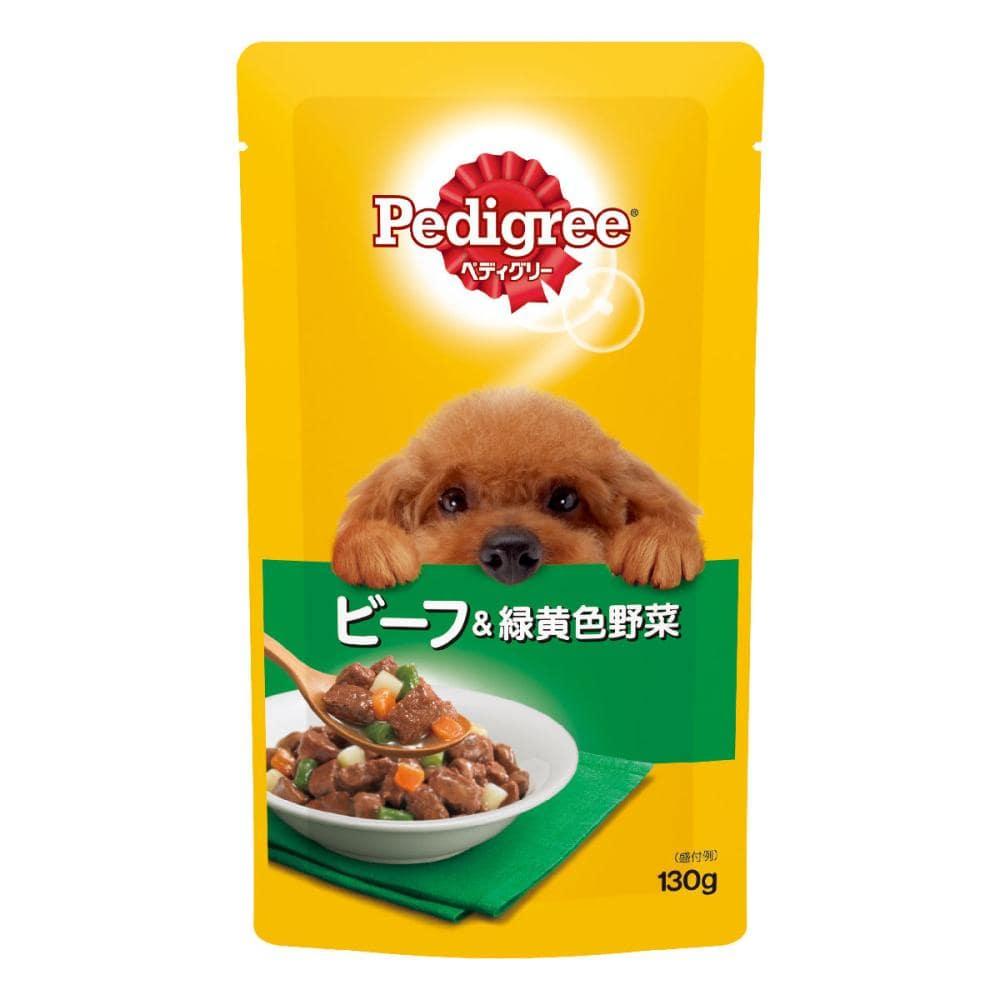 マース ぺディグリーパウチ 成犬用 ビーフ&緑黄色野菜 130g