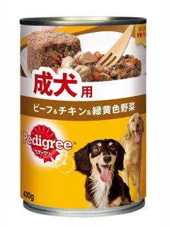 マース ぺディグリー 成犬用 ビーフ&チキン&野菜 400g