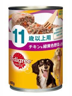 マース ぺディグリー 11歳 チキン&野菜とお米入り 400g