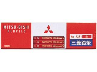 三菱 色鉛筆 赤 1ダース No.2351