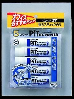 トンボ スティック糊ピットハイパワーT 5個入りパック HCA-511