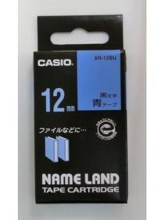 カシオ ネームランドテープ XR-12BU