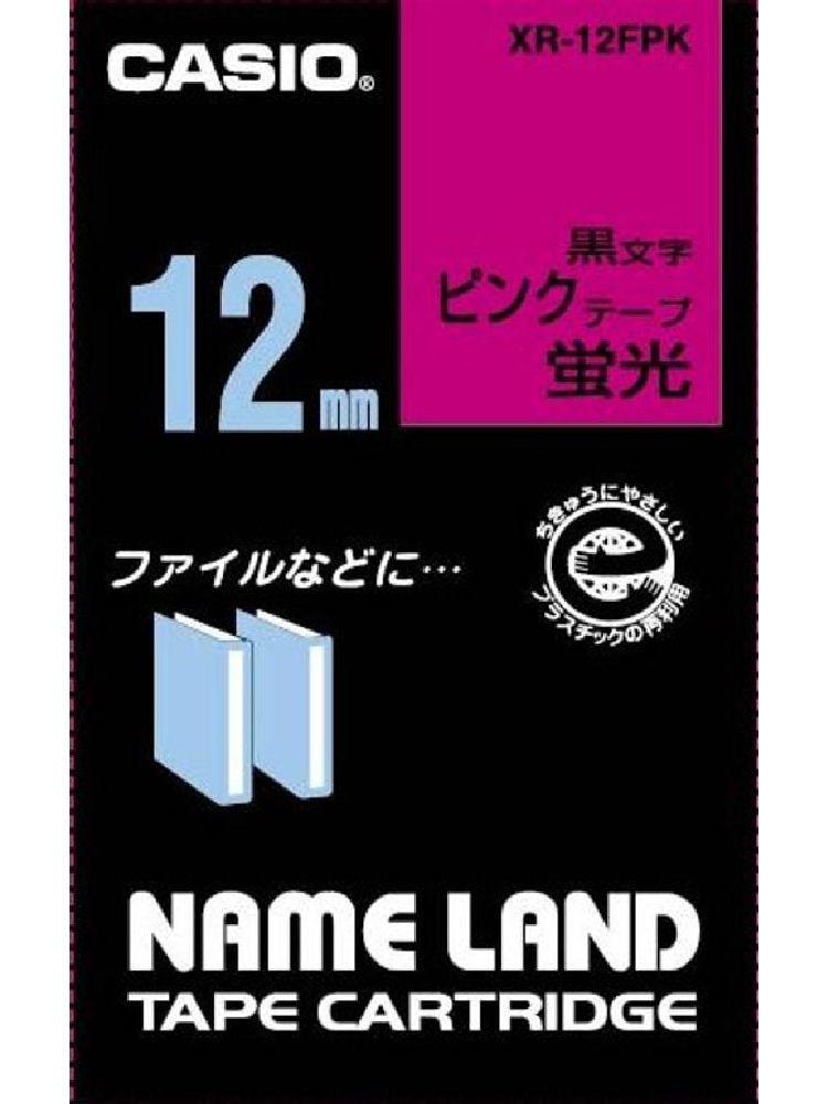 カシオ ネームランドテープ XR-12FPK