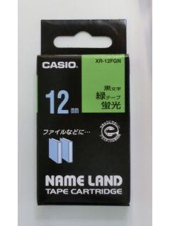 カシオ ネームランド テープ XR-12FGN