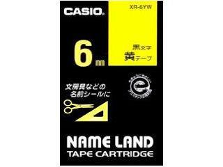 カシオ ネームランドテープ XR-6YW