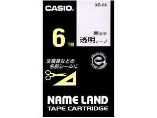 カシオ ネームランドテープ XR-6X