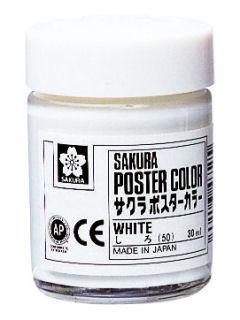 サクラ ポスターカラー 白