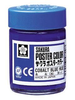 サクラ ポスターカラー 青