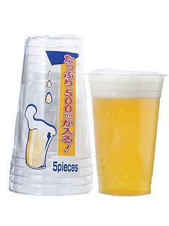 アートナップ 使い捨てコップ WB ビッグなビールカップ 約600ml 5個入
