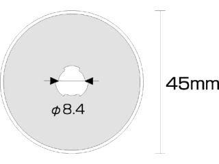 オルファ カッター替刃(円形刃45mm・1枚入) RB45-1