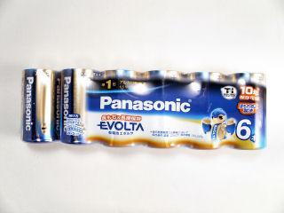 パナソニック 単1形エボルタ乾電池 6本 LR20EJ/6SW