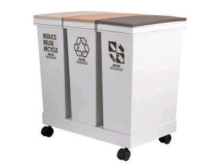 アスベル プッシュペール 資源ゴミ箱 3分別 20L×3