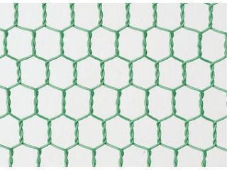 ビニール亀甲網 20×10 91cm巾 緑