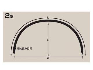 セキスイ トンネル支柱(11S-221) 2型 支柱径11×幅1,200×高さ750mm
