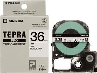 キングジム テプラテープ 白36mm SS36K*