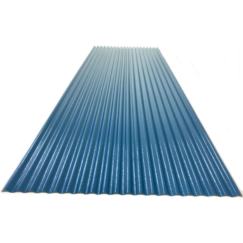 カラートタン波板 0.19mm厚 ブルー 6尺