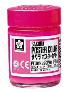 サクラ ポスターカラー 蛍光ピンク