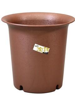 陶鉢 深型 10号 えび茶