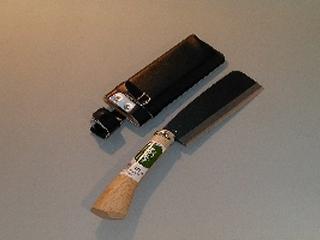 鋼典 鋼付 地型鉈 180mm 木鞘