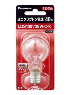 【クリックで詳細表示】ミニクリプトン電球 クリア40形 LDS100V36WCK