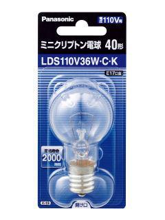【クリックで詳細表示】ミニクリプトン電球 クリア40形 LDS110V36WCK