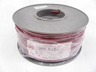 ビニル平形コード VVF 0.75SQ 100m巻 各色