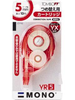トンボ鉛筆 修正テープカートリッジ CT-YR5 5mm×10m