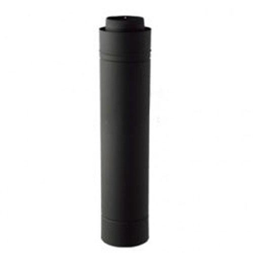 ホンマ 黒耐熱 二重煙突 直筒 φ106