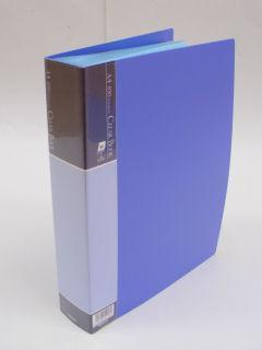 クリアブック A4 100枚 ブルー CBE1036B