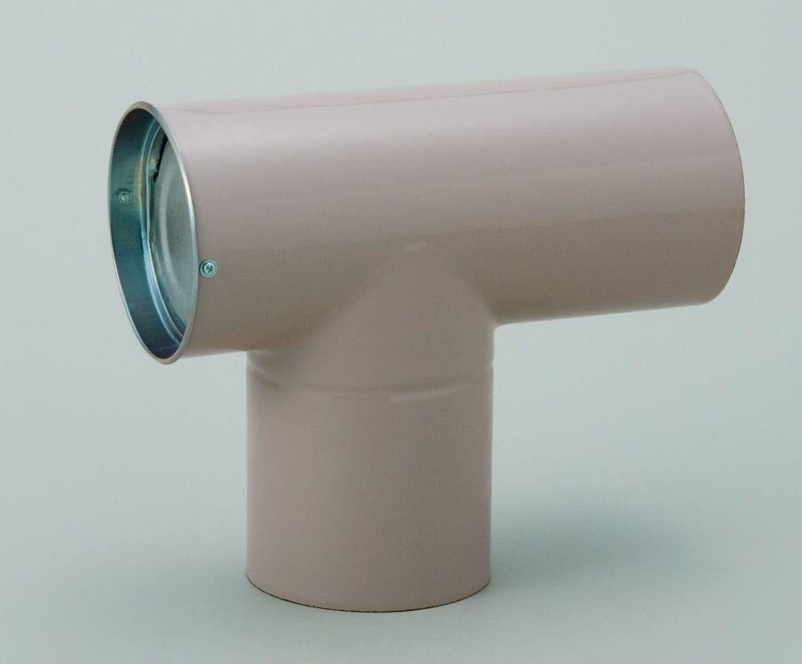 ホクアイ ホーロー煙突 レギュレーター ベージュ 106mm