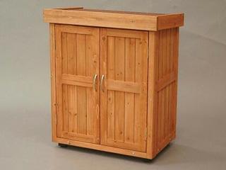 【クリックでお店のこの商品のページへ】木製物置 WSR-1600 ブラウン