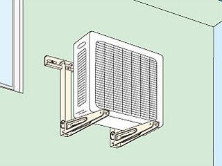 エアコン 室外機用キャッチャー 壁面用 C-KG