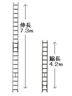 アルミ二連はしご CX70DE