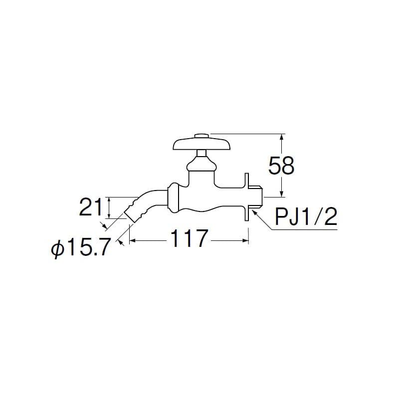 Y123K-13 洗濯機用ホーム水栓(寒)
