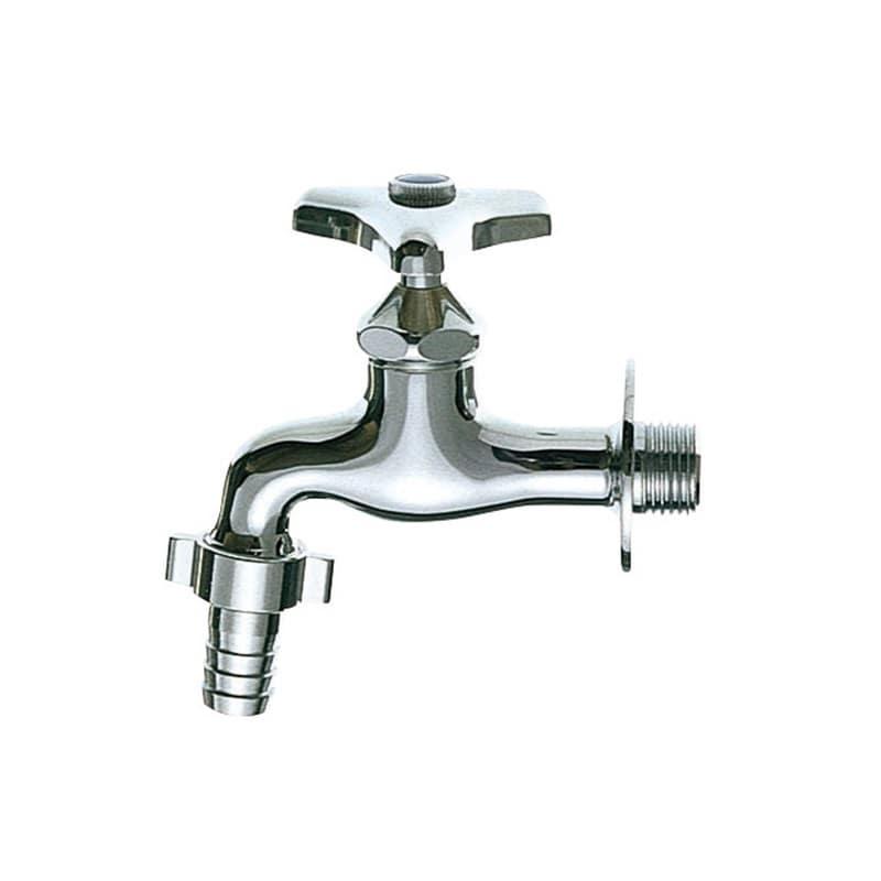 カップリング横水栓 呼び20 ホース接続部の直径21mm 内径18mmホース適合 Y30J-20