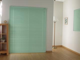 ブラインド カリーノ25 幅120cmx丈98cm グリーン