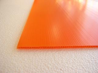 PPプレート 900×600×4mm厚 オレンジ
