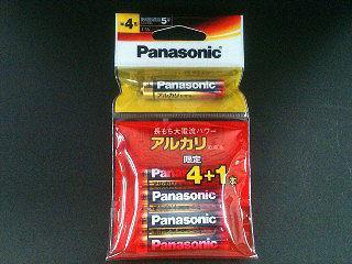 パナソニック アルカリ乾電池 単4形 4+1本 LR03XJSP/5H