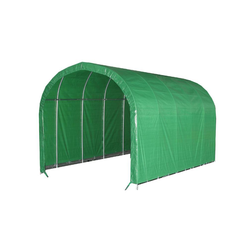 南榮工業(南栄工業) パイプ車庫本体 640M MG 前後幕無し 軽自動車用
