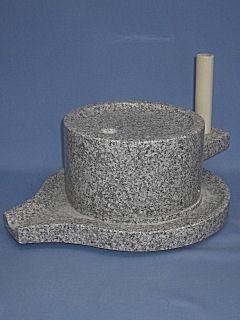みかげ石 皿型挽き臼 24cm型