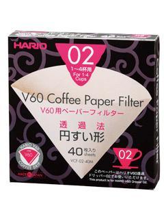 ハリオ みさらしペーパーフィルター VCF02-40 V60用 40枚入