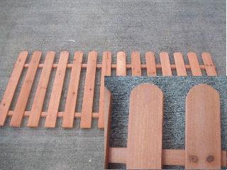 ピケット木製フェンス ブラウン 各種