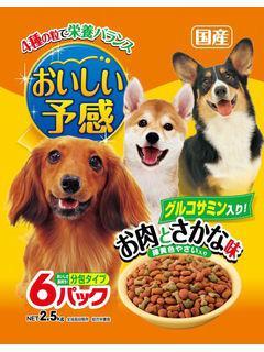 【クリックで詳細表示】おいしい予感 お肉とさかな味(犬用) 2.5kg