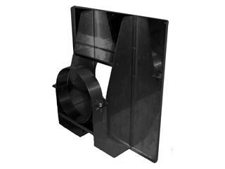 ホンマ 二重煙突強化眼鏡板 耐熱黒塗装 150mm径