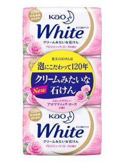 花王 石鹸 ホワイト アロマティックローズの香り レギュラー 3個パック