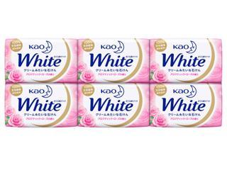 花王 石鹸 ホワイト アロマティックローズの香り 6個 箱入り