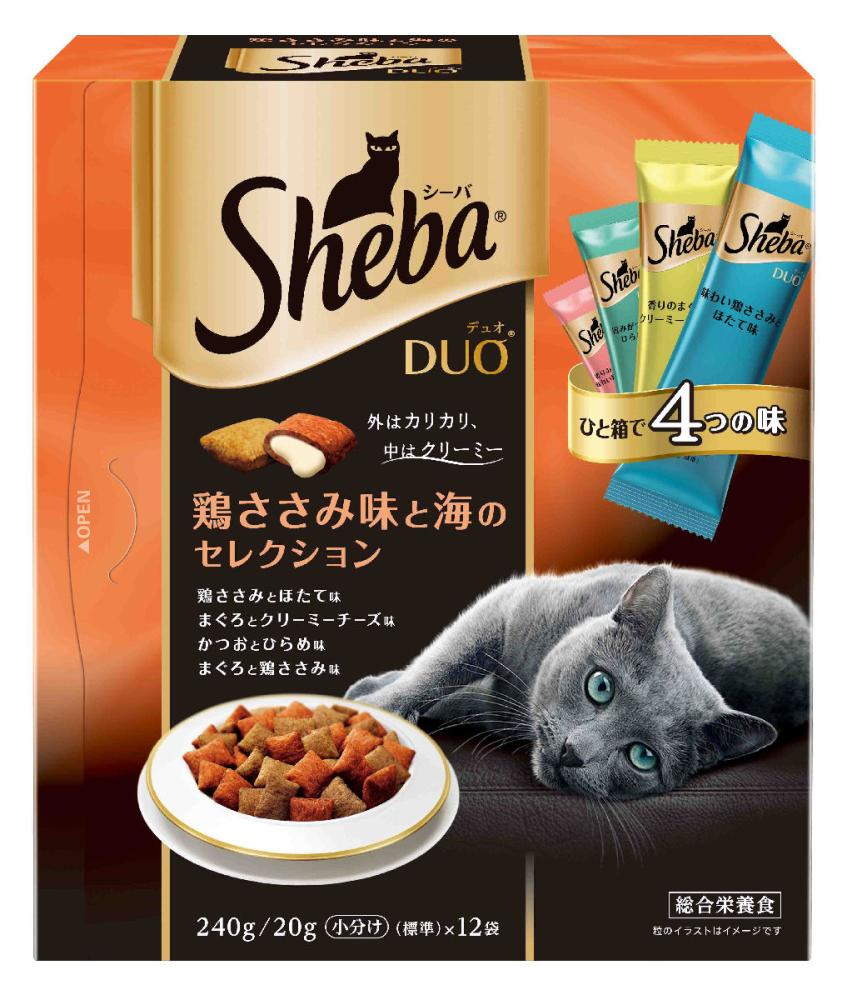 シーバDuo 鶏ささみ味と海のセレクション 240g (20g×12袋)