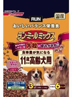 日清ペットフード ラン・ミールミックス 食事量が減りがちな11歳から高齢犬用 大粒はみがき粒入 3kg